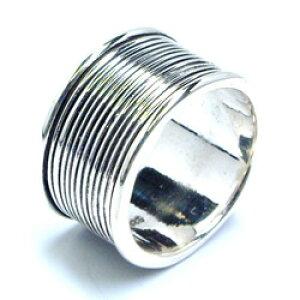 コイルシルバーリングα サイズ/12号 小さいサイズ おもしろ 面白い ワイド 男性 女性 本物の銀 指輪 スターリングシルバー 親指 中指 人差し指 薬指 小指 ピンキーリング ペアリング 高級 プ