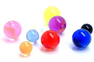 アクリルクリップイン(ビーズリング用)ボール 4mm 6mm ボディピアス パーツ キャッチ プラスティック 20G 18G 16G 14G 12G 10G 8G 6G 4G 2G 0G 00G 樹脂 キャプティブビーズビーズリング用の交換用の球