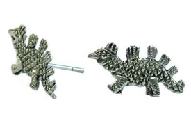 恐竜シルバーピアス/1ペア 怪獣 おもしろ ザウルス 20G 20ゲージ シルバー925 スターリングシルバー メンズ レディース キャッチピアス オリジナル 高級 銀 軟骨 ヘリックス スタッドピアス