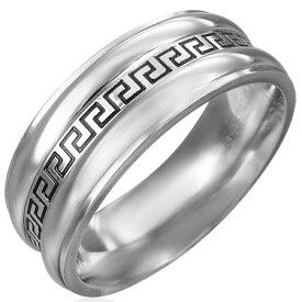 グリークキーリング(ERN067)サイズ/18号 永遠 フォーエバー エターナル ギリシャ文字 ステンレスリング 指輪 サージカルステンレス316L 低アレルギー メンズ レディース ペアリング プレゼント ギフト 結婚 婚約 記念日 誕生日 ピンキーリング