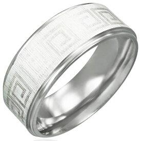 フォーチュンリング(メンズ)(LRC151)サイズ/18号 永遠 エターナル フォーエバー ギリシャ文字 ステンレスリング 指輪 サージカルステンレス316L 低アレルギー メンズ レディース ペアリング プレゼント ギフト 結婚 婚約 記念日 誕生日 ピンキーリング