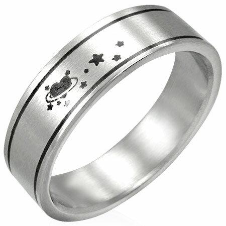 ラブスターステンレスリング(PRB096)サイズ/15号/17号 ハート 星 スター ステンレスリング 指輪 サージカルステンレス316L 低アレルギー メンズ レディース ペアリング プレゼント ギフト 結婚 婚約 記念日 誕生日 ピンキーリング ファランジリング