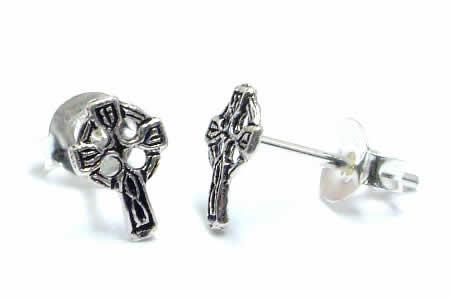 ケルトクロススタッドピアス/1ペア 小さい十字架ピアス 20G 20ゲージ 両耳 シルバー925 スターリングシルバー シルバーピアス キャッチピアス メンズ レディース 高級 オリジナル 耳たぶ 軟骨