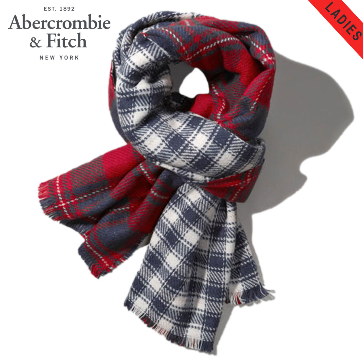 20%OFFセール 【販売期間 10/19 20:00〜10/26 1:59】 アバクロ Abercrombie&Fitch 正規品 ブランケット THE BLANKET Red Plaid 154-540-0325-059 D00S20
