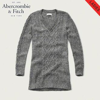 abakuro Abercrombie&Fitch正規的物品女士V字領毛衣CABLE SWEATER DRESS 159-591-1177-132