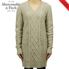 アバクロ セーター レディース 正規品 Abercrombie&Fitch Vネックセーター CABLE SWEATER DRESS 159-591-1178-402 D20S30