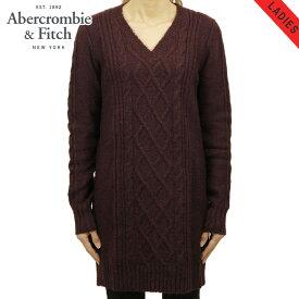 【販売期間 11/19 10:00〜11/26 09:59】 アバクロ セーター レディース 正規品 Abercrombie&Fitch Vネックセーター CABLE SWEATER DRESS 159-591-1
