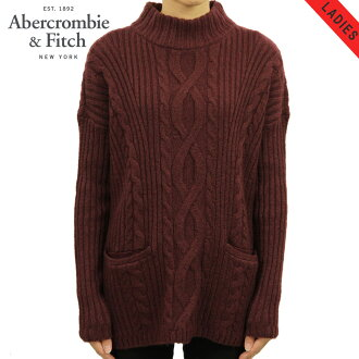 abakuro Abercrombie&Fitch正规的物品女士毛衣BOXY CABLE TURTLENECK SWEATER 150-490-0797-520