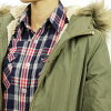 ABBA black Abercrombie & Fitch regular article Lady's outer military jacket Sherpa Military Parka 144-442-0686-330