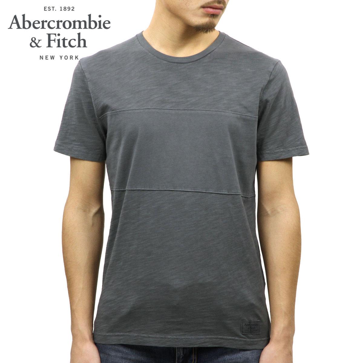 【ポイント10倍 4/22 20:00〜4/26 01:59まで】 アバクロ Abercrombie&Fitch 正規品 メンズ 半袖Tシャツ GARMENT DYE MIXED FABRIC TEE 124-236-1817-902
