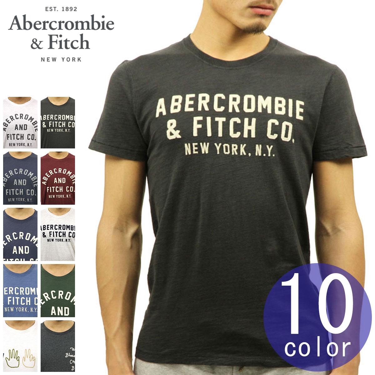 アバクロ Abercrombie&Fitch 正規品 メンズ クルーネック 半袖Tシャツ TEE