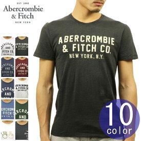 アバクロ Tシャツ 正規品 Abercrombie&Fitch 半袖Tシャツ クルーネック TEE