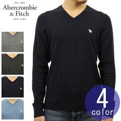 アバクロAbercrombie&Fitch正規品メンズウール混Vネックセーターワンポイントロゴ刺繍ICONV-NECKSWEATER