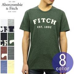 アバクロAbercrombie&Fitch正規品メンズクルーネック半袖Tシャツ