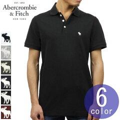 アバクロAbercrombie&Fitch正規品メンズワンポイントストレッチ半袖ポロシャツSTRETCHICONPOLO121-224