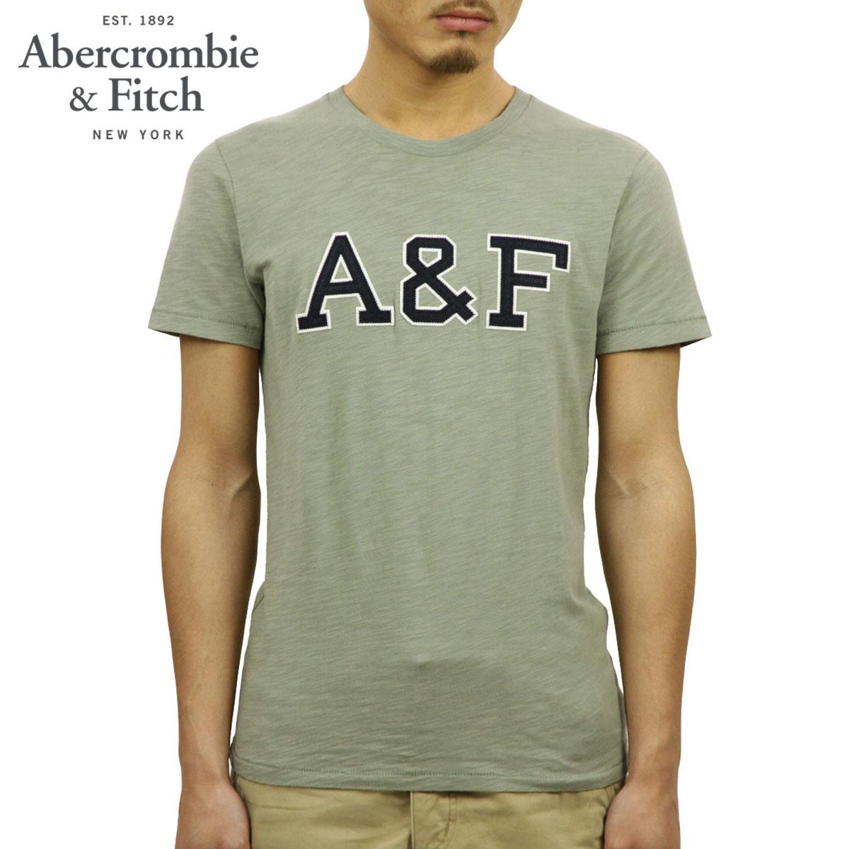アバクロ Abercrombie&Fitch 正規品 メンズ クルーネック 半袖Tシャツ LOGO GRAPHIC TEE 123-238-2346-302