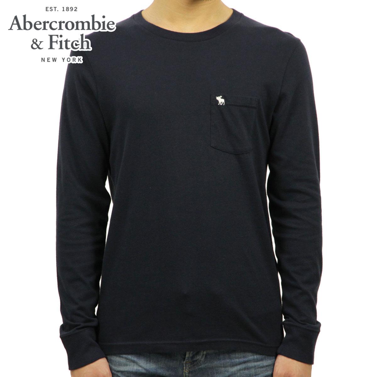 アバクロ Abercrombie&Fitch 正規品 メンズ クルーネック 長袖Tシャツ LONG-SLEEVE ICON POCKET TEE 124-236-1847-200