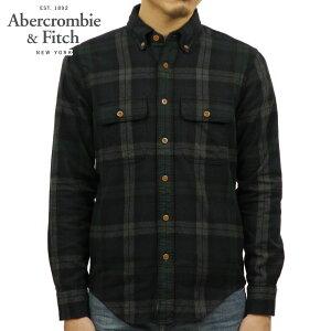 アバクロAbercrombie&Fitch正規品メンズ長袖ネルシャツFLANNELSHIRT125-125-0603-308
