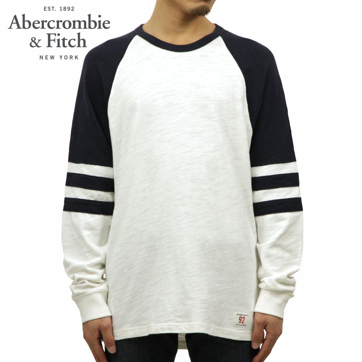 アバクロ Abercrombie&Fitch 正規品 メンズ クルーネック 長袖Tシャツ LONG-SLEEVE VARSITY TEE 124-228-0207-104