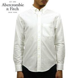 アバクロ シャツ メンズ 正規品 Abercrombie&Fitch 長袖シャツ ボタンダウンシャツ OXFORD SHIRT 125-168-2859-100