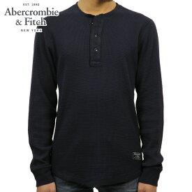 アバクロ Tシャツ メンズ 正規品 Abercrombie&Fitch 長袖Tシャツ ヘンリーネックTシャツ ロンT ワッフル地 WAFFLE TEE 124-230-0576-200