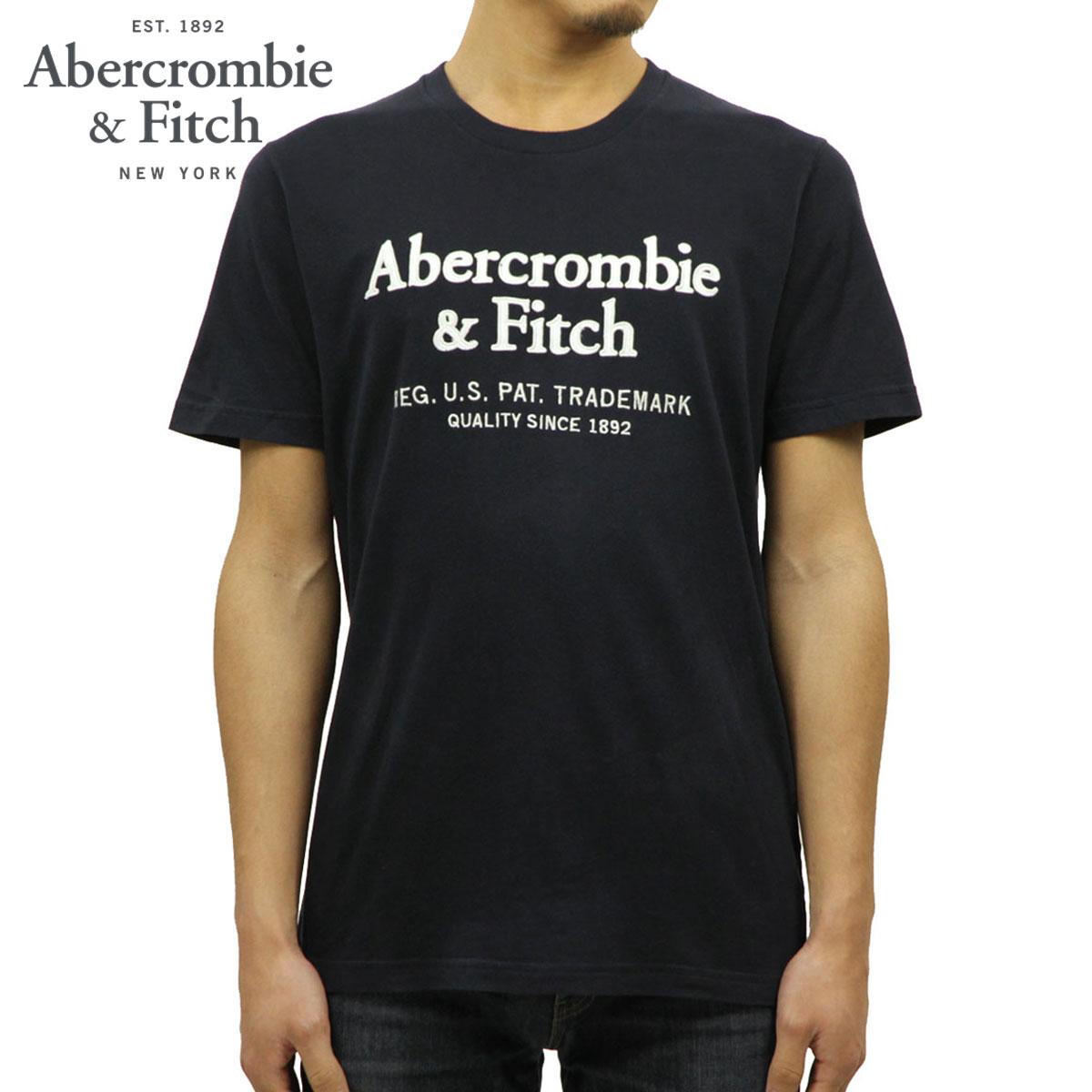 アバクロ Abercrombie&Fitch 正規品 メンズ クルーネック ロゴ 半袖Tシャツ SHORT-SLEEVE APPLIQUE LOGO TEE 123-238-2517-200