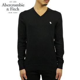 アバクロ セーター メンズ 正規品 Abercrombie&Fitch Vネックセーター ワンポイントロゴ THE A&F ICON V-NECK SWEATER 120-201-1574-900