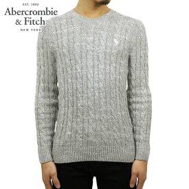 アバクロ セーター メンズ 正規品 Abercrombie&Fitch ケーブルニット クルーネックセーター ICON CABLE KNIT SWEATER 120-201-1569-110