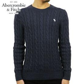 アバクロ セーター メンズ 正規品 Abercrombie&Fitch ケーブルニット クルーネックセーター ICON CABLE KNIT SWEATER 120-201-1569-200