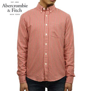 アバクロAbercrombie&Fitch正規品メンズ長袖シャツGinghamHerringboneButton-UpShirt125-168-2370-508