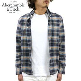アバクロ シャツ メンズ 正規品 Abercrombie&Fitch 長袖シャツ Bleached Plaid Oxford Shirt 125-168-2359-208 D00S20
