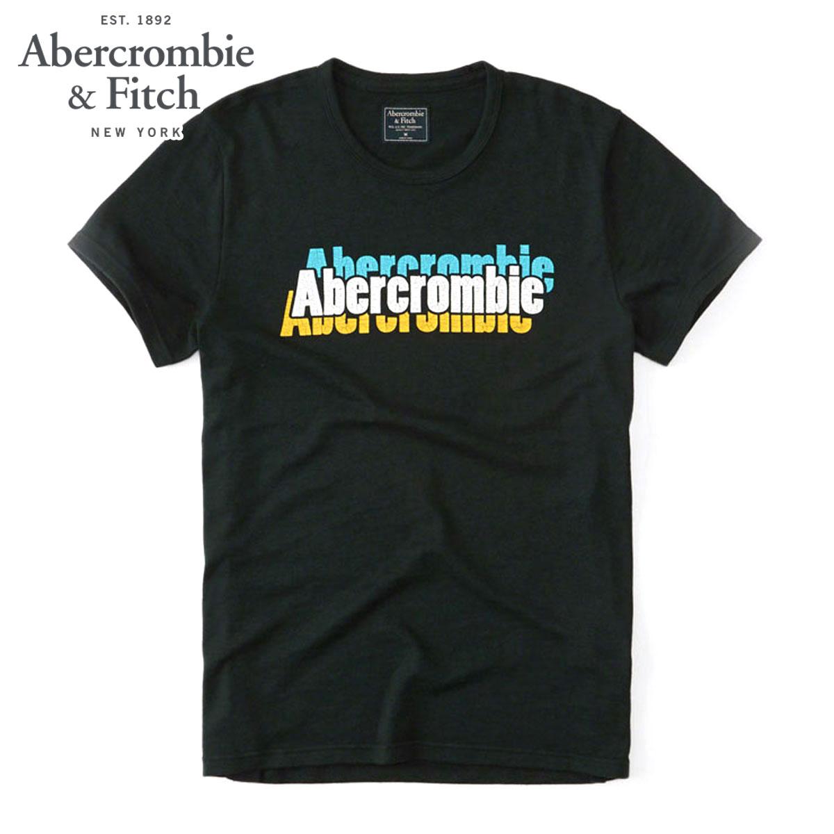 アバクロ Abercrombie&Fitch 正規品 メンズ 半袖Tシャツ PRINT LOGO TEE 123-238-2097-300 D00S20