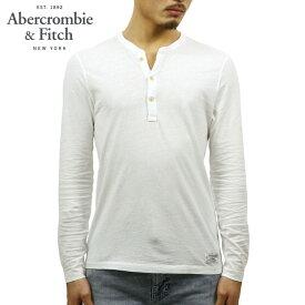 アバクロ Tシャツ メンズ 正規品 Abercrombie&Fitch 長袖Tシャツ ヘンリーネックTシャツ GARMENT DYE HENLEY 121-701-0518-101