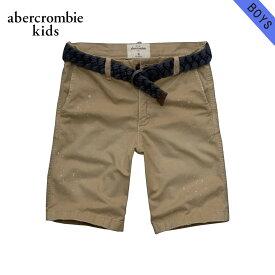 アバクロキッズ ショートパンツ ボーイズ 子供服 正規品 AbercrombieKids ボトムス a&f classic fit shorts ベルト