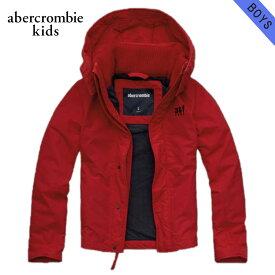 アバクロキッズ ジャケット ボーイズ 子供服 正規品 AbercrombieKids アウター a&f all-season weather warrior RED D20S30