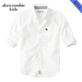 【クーポンゲットで10%OFF 12/1 00:00〜12/2 9:59】 アバクロキッズ シャツ ボーイズ 子供服 正規品 AbercrombieKids 長袖シャツ long sleeve poplin shirt 225-680-0734-001