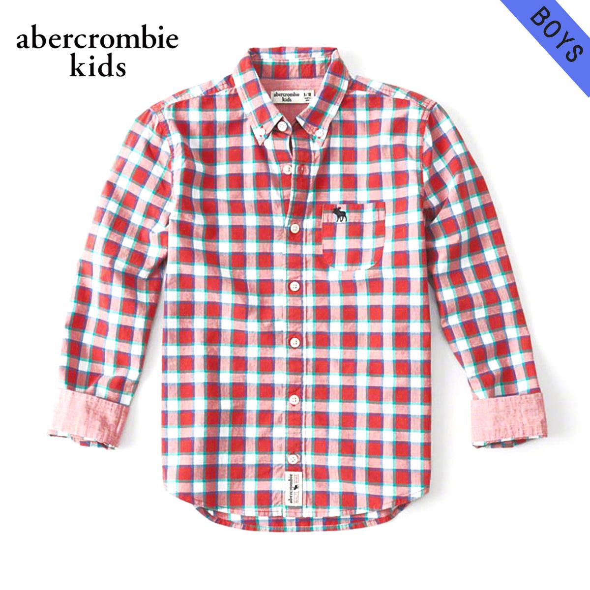 アバクロキッズ AbercrombieKids 正規品 子供服 ボーイズ 長袖シャツ long sleeve poplin shirt 225-680-0747-050