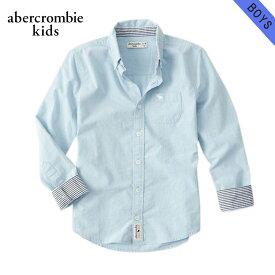アバクロキッズ シャツ ボーイズ 子供服 正規品 AbercrombieKids 長袖シャツ long sleeve poplin shirt 225-680-0735-021 父の日 ギフト ラッピング