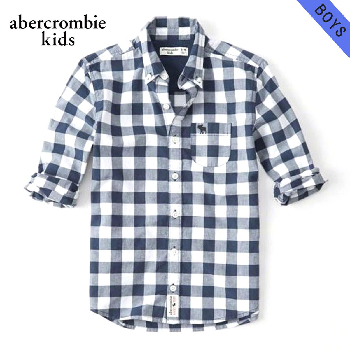 アバクロキッズ AbercrombieKids 正規品 子供服 ボーイズ 長袖シャツ long sleeve poplin shirt 225-680-0736-023
