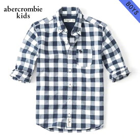 アバクロキッズ シャツ ボーイズ 子供服 正規品 AbercrombieKids 長袖シャツ long sleeve poplin shirt 225-680-0736-023 父の日 ギフト ラッピング