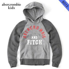 アバクロキッズ パーカー ボーイズ 子供服 正規品 AbercrombieKids プルオーバーパーカー logo graphic hoodie 222-628-0027-012 父の日 ギフト ラッピング