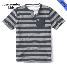 アバクロキッズ Tシャツ 子供服 正規品 AbercrombieKids 半袖Tシャツ ヘンリーネックTシャツ pocket icon henley 221-651-4260-026 父の日 ギフト ラッピング