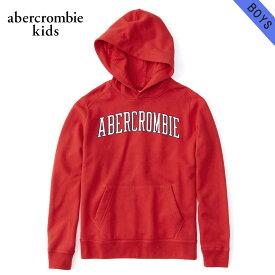 アバクロキッズ AbercrombieKids 正規品 子供服 ボーイズ ロゴ プルオーバーパーカー embroidered logo hoodie 222-8401-0248-050