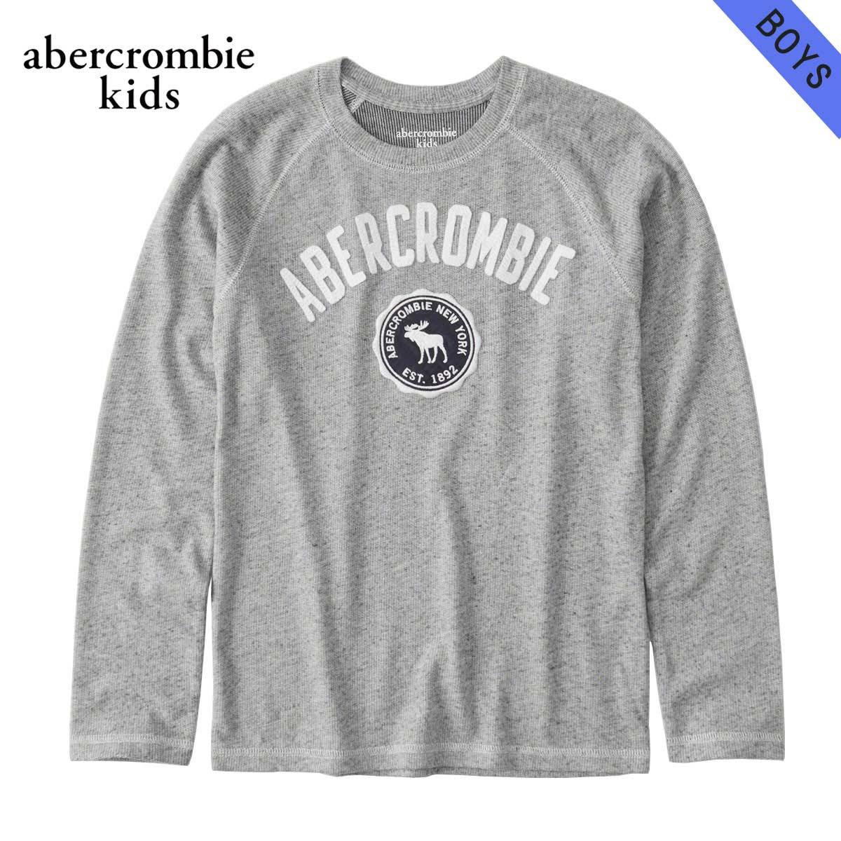 アバクロキッズ AbercrombieKids 正規品 子供服 ボーイズ クルーネック長袖Tシャツ cozy logo graphic tee 223-616-0101-011