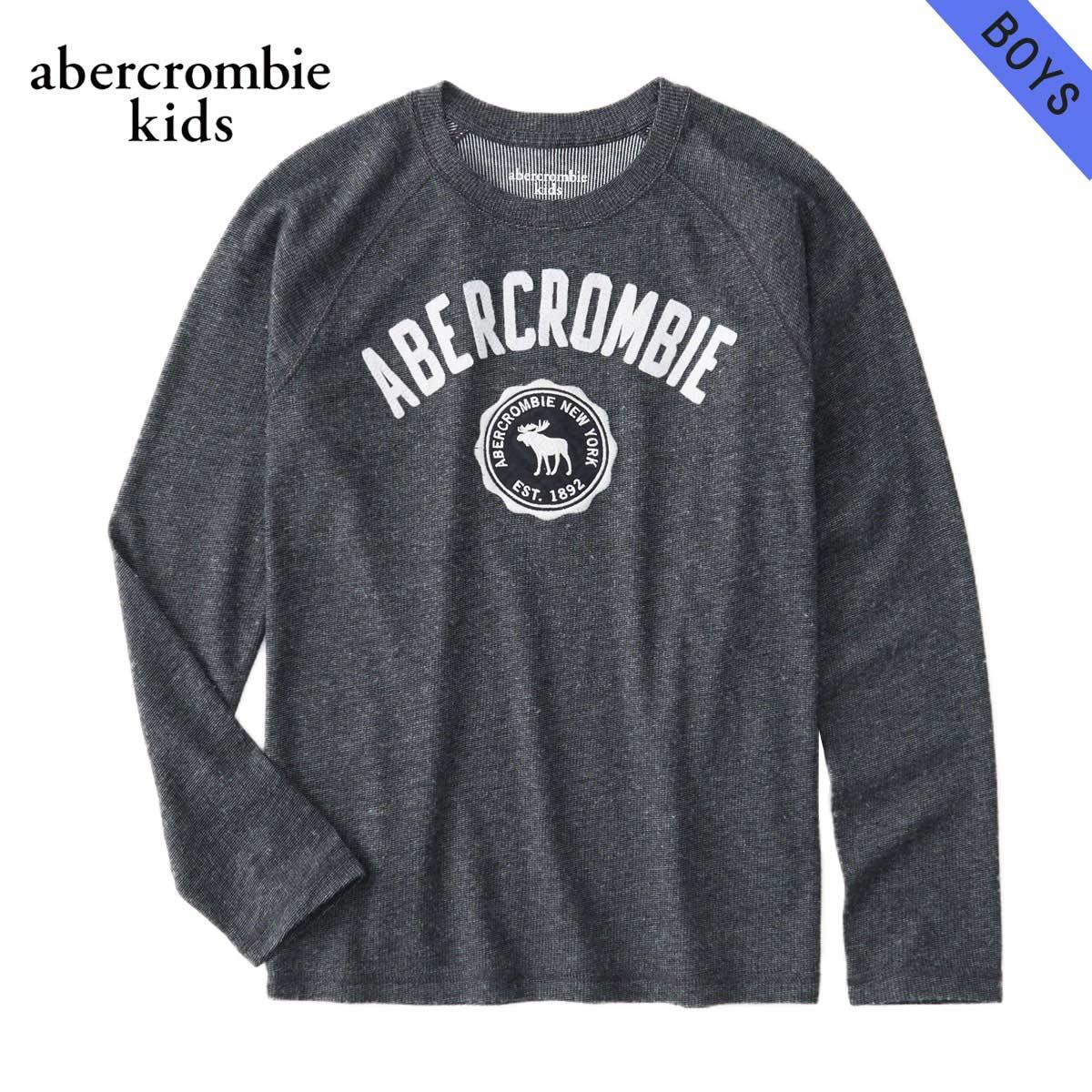 アバクロキッズ AbercrombieKids 正規品 子供服 ボーイズ クルーネック長袖Tシャツ cozy logo graphic tee 223-616-0101-023