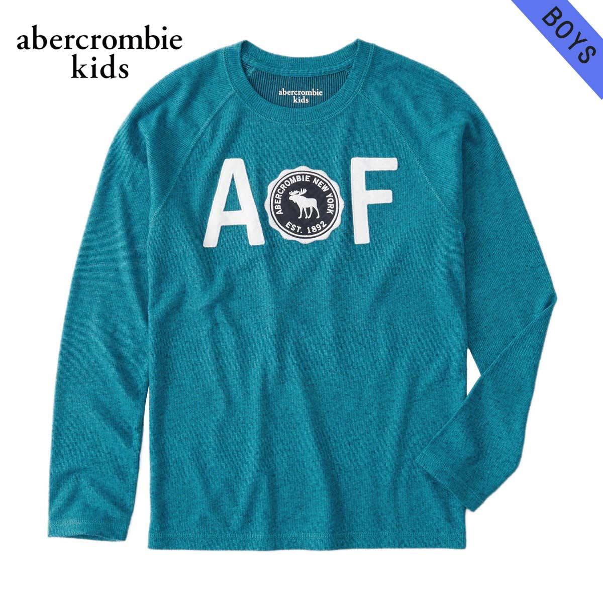 アバクロキッズ AbercrombieKids 正規品 子供服 ボーイズ クルーネック長袖Tシャツ cozy logo graphic tee 223-616-0101-020