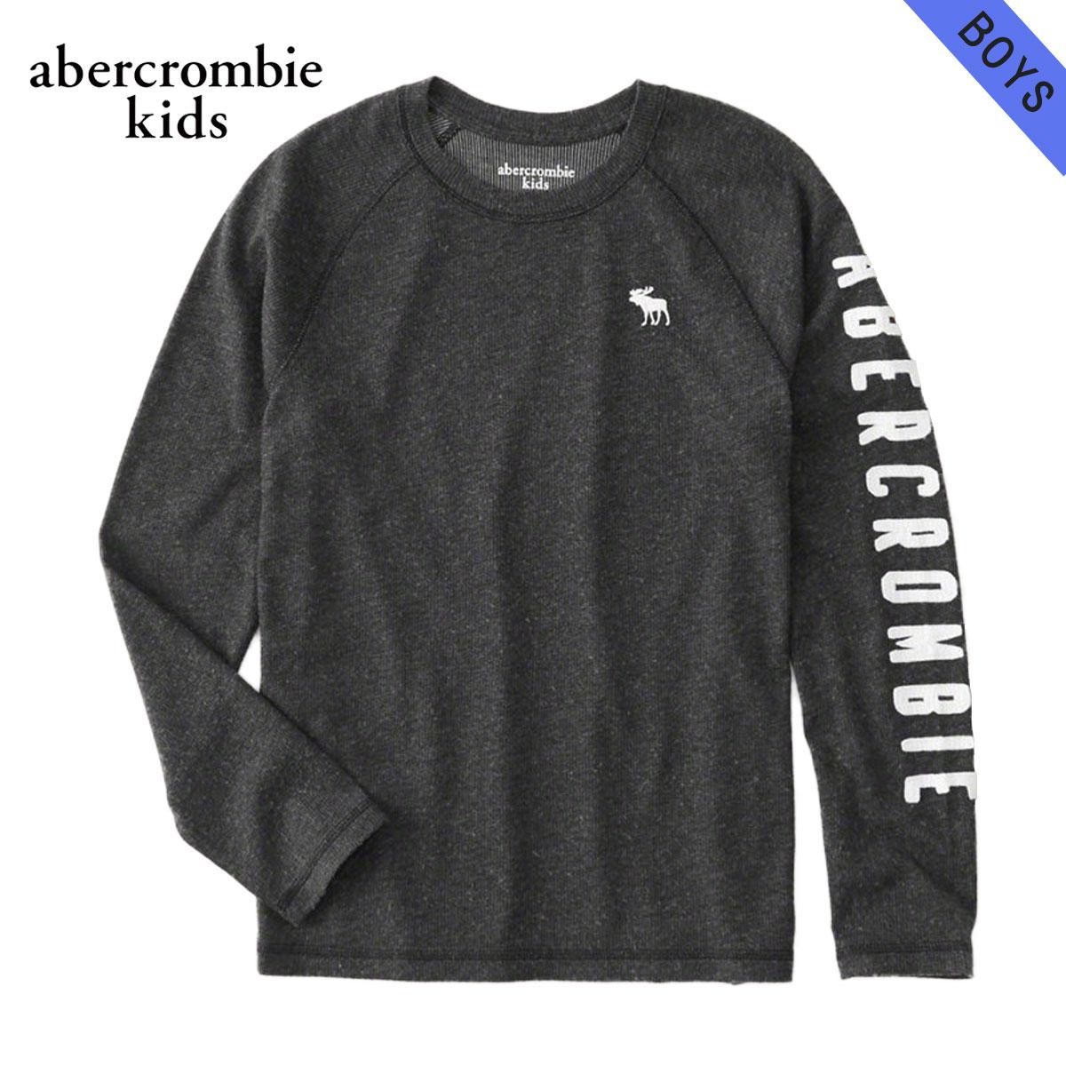 アバクロキッズ AbercrombieKids 正規品 子供服 ボーイズ クルーネック長袖Tシャツ cozy logo graphic tee 223-616-0101-091