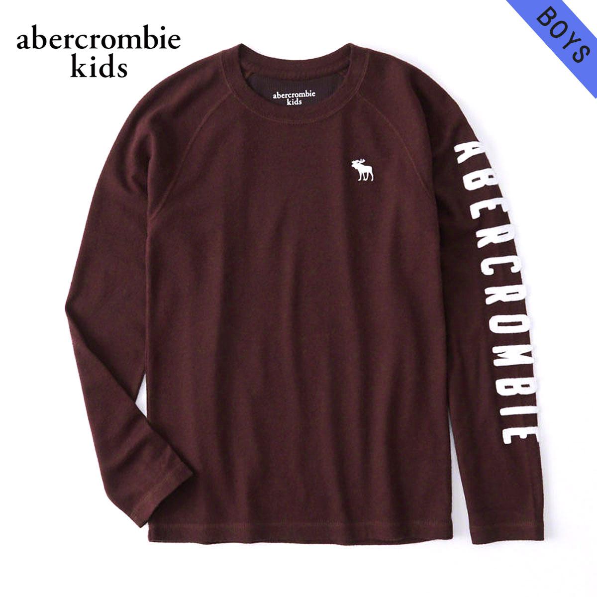 アバクロキッズ AbercrombieKids 正規品 子供服 ボーイズ クルーネック長袖Tシャツ cozy logo graphic tee 223-616-0101-055