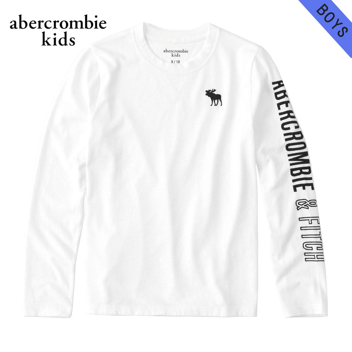 アバクロキッズ AbercrombieKids 正規品 子供服 ボーイズ クルーネック長袖Tシャツ logo graphic tee 223-616-0093-001