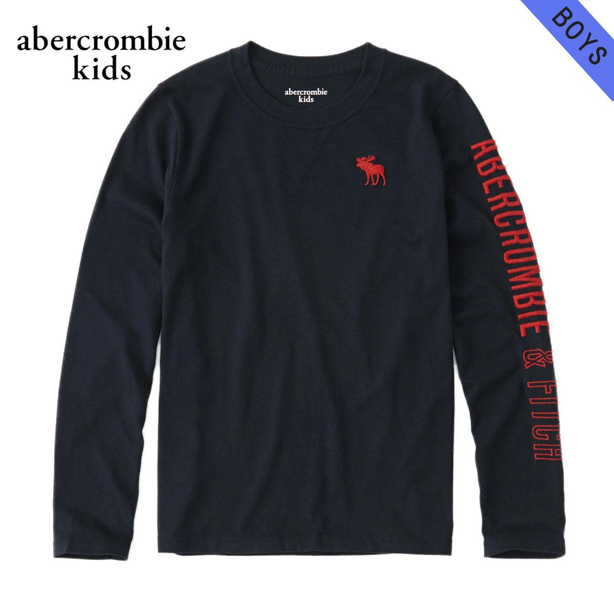 アバクロキッズ AbercrombieKids 正規品 子供服 ボーイズ クルーネック長袖Tシャツ logo graphic tee 223-616-0093-023